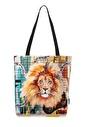home-bath Omuz Çantası Strong Lion Renkli